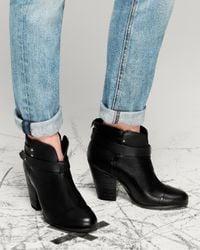 Rag & Bone - Black Harrow Boot - Lyst