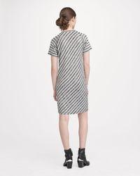 Rag & Bone   Gray Raglan Dress Striped   Lyst