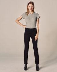 Rag & Bone Nina High-rise Cigarette - Coal Slim Fit Black Jean
