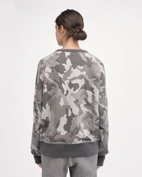 Rag & Bone - Gray Mesh Camo Racer Sweatshirt - Lyst