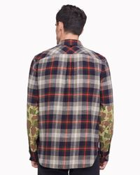 Rag & Bone Multicolor Rag + Bone Jack Slim Fit Plaid Sport Shirt for men