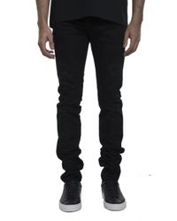 Givenchy | Black Leather Trim Jean for Men | Lyst