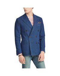 Blazer Morgan en denim Polo Ralph Lauren pour homme en coloris Blue
