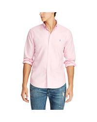 Polo Ralph Lauren Stückgefärbtes Oxfordhemd in Pink für Herren
