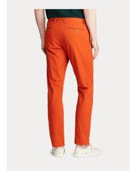 Polo Ralph Lauren Slim-Fit-Chino mit Stretch in Orange für Herren