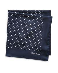 Foulard à pois en soie Ralph Lauren Purple Label pour homme en coloris Blue