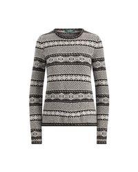 Ralph Lauren Black Lauren Graphic Fair Isle Sweater