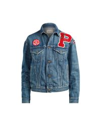 Polo Ralph Lauren Blue Patchwork Trucker Jacket