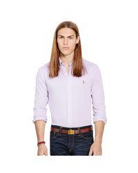 Polo Ralph Lauren   Purple Knit Oxford Shirt for Men   Lyst
