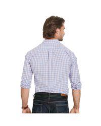 Pink Pony - Blue Plaid Poplin Sport Shirt for Men - Lyst
