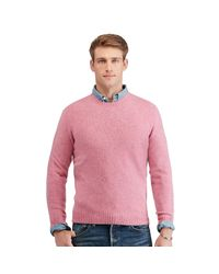 Polo Ralph Lauren | Pink Merino Wool-cashmere Sweater for Men | Lyst