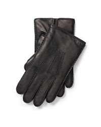 Polo Ralph Lauren | Black Leather Touch Screen Gloves for Men | Lyst