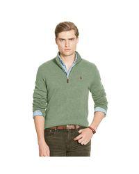 Polo Ralph Lauren | Green Merino Wool Half-zip Sweater for Men | Lyst