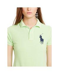 Polo Ralph Lauren - Green Skinny Fit Big Pony Polo Shirt - Lyst