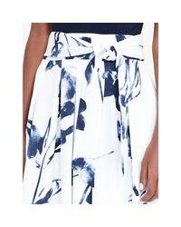 Ralph Lauren Blue Floral-print Ballgown