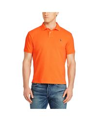 Pink Pony - Orange Classic Weathered Mesh Polo for Men - Lyst