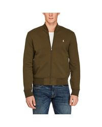 Polo Ralph Lauren Green Double-knit Bomber Jacket for men