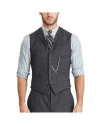 RRL | Blue Merino-blend Vest for Men | Lyst