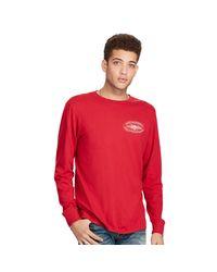 Denim & Supply Ralph Lauren | Red Cotton Long-sleeve Graphic Tee for Men | Lyst