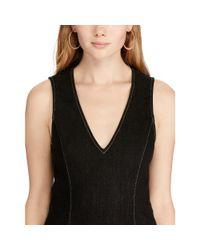 Polo Ralph Lauren - Black Denim Sheath Dress - Lyst