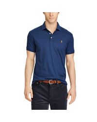 Polo Ralph Lauren - Blue Classic Fit Soft-touch Polo for Men - Lyst