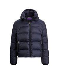 Ralph Lauren Purple Label Blue Bergen Hooded Down Jacket for men
