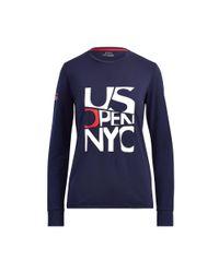 Ralph Lauren Blue Us Open Long-sleeve T-shirt