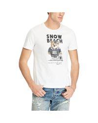 Polo Ralph Lauren White Custom Slim Fit Bear T-shirt for men