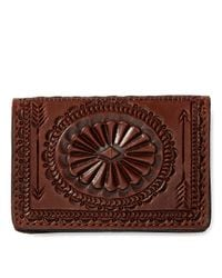 Portefeuille en cuir travaillé main Ralph Lauren pour homme en coloris Brown