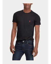 T-shirt ultra cintré en coton Ralph Lauren pour homme en coloris Black