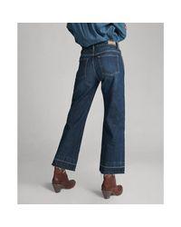 Jean 7/8 à jambe large Polo Ralph Lauren en coloris Blue
