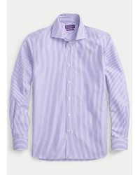 Camicia a righe di Ralph Lauren Purple Label in Purple da Uomo