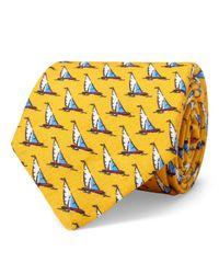 Polo Ralph Lauren Schmale Leinenkrawatte in Yellow für Herren