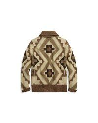 RRL - Brown Hand-knit Linen-blend Cardigan for Men - Lyst