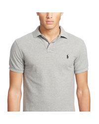 Polo cintré en coton piqué Polo Ralph Lauren pour homme en coloris Gray