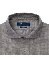 Polo Ralph Lauren - Gray Slim Fit Cotton Dress Shirt for Men - Lyst