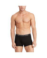 Lot de 3 slips boxers coton stretch Polo Ralph Lauren pour homme en coloris Black