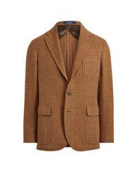 Blazer à chevrons à carreaux Polo Ralph Lauren pour homme en coloris Brown