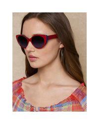Ralph Lauren - Black Cat Eye Spectator Sunglasses - Lyst
