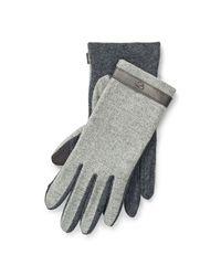 Ralph Lauren - Gray Herringbone Wool Tech Gloves - Lyst