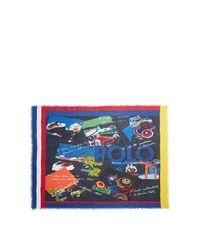 Foulard carré Poster Polo Ralph Lauren pour homme en coloris Blue