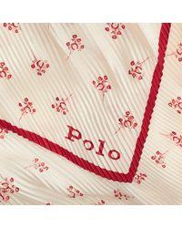 Foulard plissé en soie Polo Ralph Lauren en coloris Multicolor
