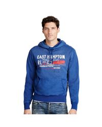 Polo Ralph Lauren | Blue East Hampton Fleece Hoodie for Men | Lyst
