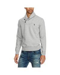 Polo Ralph Lauren Gray Cotton-blend-fleece Pullover for men