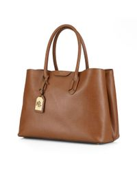 Pink Pony | Brown Leather Tate City Tote | Lyst