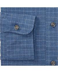 Polo Ralph Lauren Blue Slim Fit Windowpane Shirt for men
