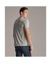 Ralph Lauren Purple Label Gray Cotton Lisle Crewneck T-shirt for men