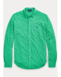 Ralph Lauren Featherweight-Piqué-Hemd in Green für Herren