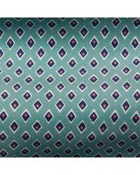 Cravate en soie à losanges Ralph Lauren Purple Label pour homme en coloris Blue