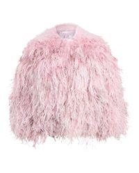 Ralph Lauren Pink Maria Shearling-feather Jacket
